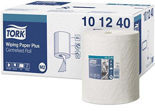 Tork 101240 Papier d'essuyage Advanced - Blanc - 2 plis - lot de 6 rouleaux - 6 x 160 m - 35 x 21,5 cm