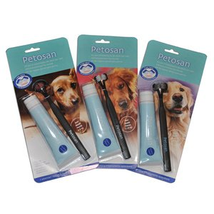 Zahnbürste & Zahnpasta 1 Set, L - für Hunde mehr als 16 kg