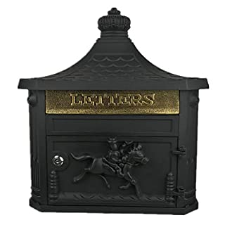 Byx- Mailbox - Galvanized sheet, retro creative European home outdoor wall-mounted waterproof and rainproof letter box, suitable for villas, courtyards, homes -six colors available -mailbox