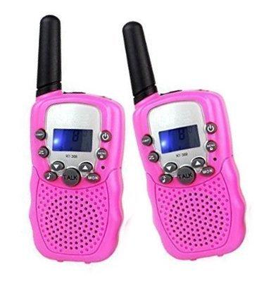 Uping Talkies Walkies Enfant Jeu Électronique 446MHZ LCD Écran Torch Intégré 8 Canaux Portée jusqu'à 3km en Champs Libre (1Paire, Rose) 0701041623684