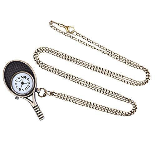 CHshe ♥♥ Herren-Uhren-Taschenuhr in Form eines kleinen Schlägers, Außergewöhnliches Leben, jede Sekunde zählt, Am modischsten,Einfaches Design Klassiker (A)