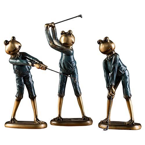PLL European Style Home Kreative Frosch Golf Ornamente Büro Wohnzimmer Wein Kabinett Handwerk -