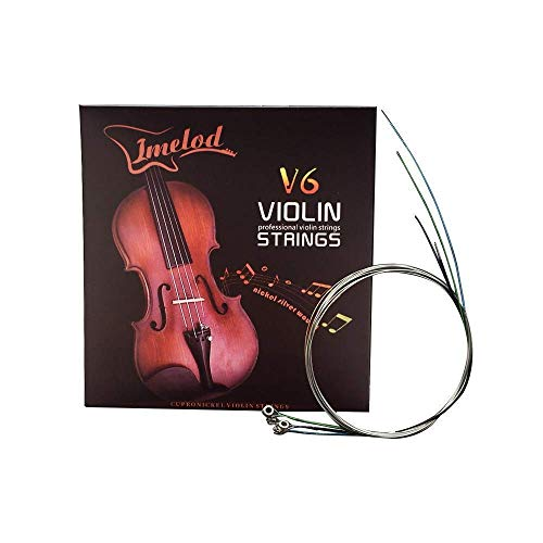 Set completo di corde per violino (G-D-A-E) Set corde di violino per violino con anima in acciaio Ferita in nichel-argento con estremità a sfera nichelata per 4/4 3/4 1/2 1/4 di violino