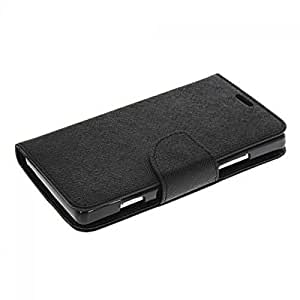 Aart Fancy Diary Card Wallet Flip Case Back Cover For Samsung 7262 - (Black) + USB Bracelet Cable with Charging and Sync for all smart phones by Aart Store.