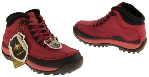 Northwest Territorybout Femmes Cuir Bottes de sécurité Rouge - rouge