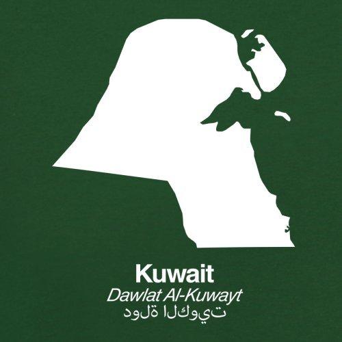 Kuwait Silhouette - Herren T-Shirt - 13 Farben Flaschengrün