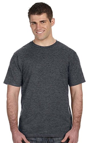 Vokuhila Girl auf American Apparel Fine Jersey Shirt Dunkelgrau (Heather Dark Grey)