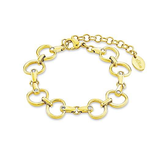 s.Oliver Damen-Armband Swarovski Elements Edelstahl Kristall weiß 21 cm - 525145