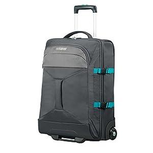 AMERICAN TOURISTER Road Quest – 2 Compartments Wheeled Duffle 55/20 Bolsa de viaje, 55 cm, 40 liters, Gris (Grey/turquoise)