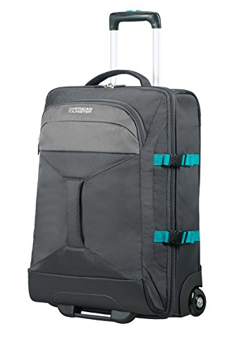 AMERICAN TOURISTER Road Quest – 2 Compartments Wheeled Duffle 55/20 Bolsa de viaje, 55 cm, 40 liters, Gris (Grey/turquoise)
