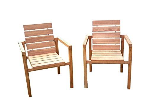 SAM® SAM® Teak-Holz Gartenstuhl, massive Sitzmöglichkeit ideal für Garten Terrasse Balkon oder Wintergarten [521222]