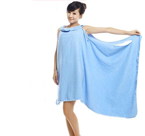 Frauen tragbar saugfähig Wrap Bad Dusche Rock Handtuch für Strand Spa Schwimmen, Bademantel und Badetuch All in One Melissa Wizard modisch blau (Badetuch Frauen)