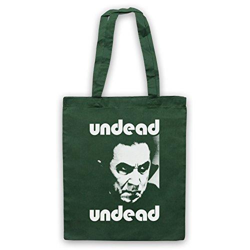 Inspiriert durch Bauhaus Bela Lugosi's Dead Inoffiziell Umhangetaschen Dunkelgrun