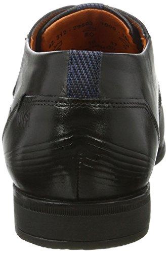 Bugatti 312295031000, Derby Homme Noir (Schwarz)