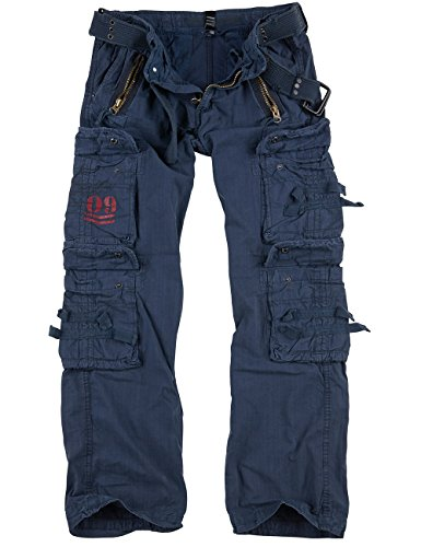 Surplus Royal Traveler Trousers, Royalblue, S -