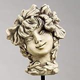 Blumenkind Hibiskus, Figur aus Steinguss