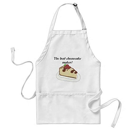 Simplyeo Tablier de Cuisine pour Femme – Le Cheesecake Maker Tabliers de Motif pour Filles Cou réglable Attaches de Tour de Taille Tablier de Cuisine pour Homme