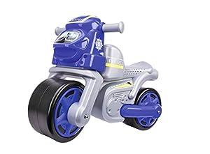 Simba Big 800056312-Bike Policía Infantil vehículos, Plata