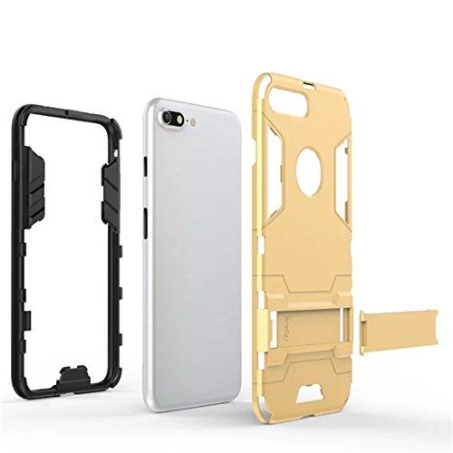 Tianyan Coque iPhone 7 Armor Séries Silicone Antichoc avec Béquille Housse Etui pour Apple iPhone 7 - rouge Bleu