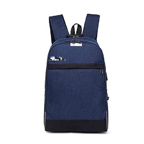 YJZZ Business-Rucksack Herren Freizeit 15,6 Zoll Computer-Rucksack Reise-Studententasche 20-35L/ blau