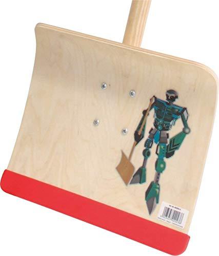 Kinderschneeschieber Sperrholz 28cm mit Stiel Kinderschneeräumer