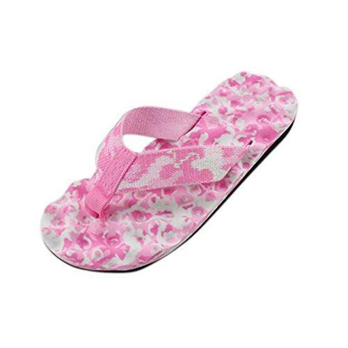 Damen Sommer-Schuhe,Xinan Frauen-Sommer-Flip Flops Schuhe Sandalen Slipper Indoor & Outdoor Flip-Flops (36, Rosa) (Klassische Flip-flop)