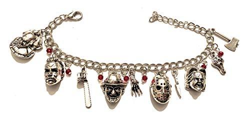 giulyscreations Armband Metall Nichel Free Figuren Film Horror It Pennywise Nightmare Motosega Hannibal Lecter Chucky Puppe Assassina Scream - Horror-film-figuren