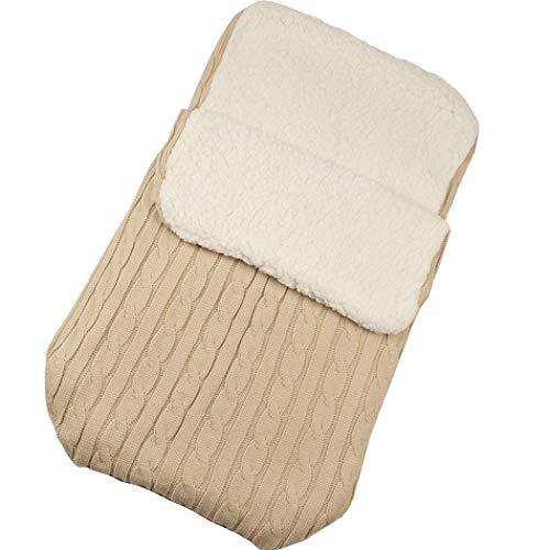 YAGAIU Baby Swaddle Blanket Wrap, épais bébé Enfant Enfant en Bas âge en Tricot Doux et Chaud Couverture Polaire Swaddle Sac de Couchage Poussette Wrap pour bébé garçons Filles