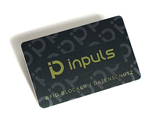 RFID Blocker Karte - NFC Schutzkarte die Ihre gesamte Geldbörse vor Datendiebstahl schützt - Kreditkarten, EC Karte, Personalausweis | 100%Datenschutz