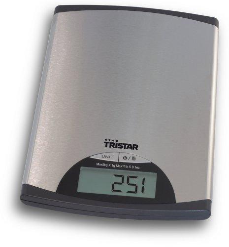 Balance de cuisine Tristar KW-2435 - 5 kg - Acier inoxydable
