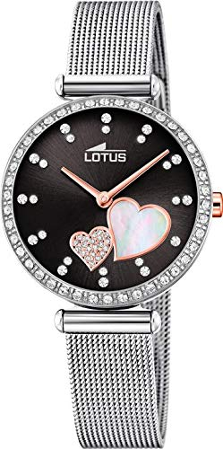 Orologio Donna Lotus Bliss Bracciale Mesh Swarovski Nero 18616/4