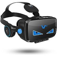 VOX VR FE gafas de realidad virtual Headset gafas 3D con el auricular de 4.0 a 6.2 pulgadas de teléfonos inteligentes-2017 Edición
