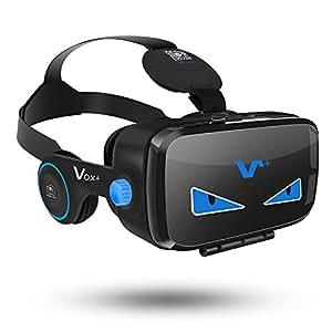 VOX FE VR Occhiali Box con Cuffie 3D per Realtà Virtuale con Auricolari per Smartphone da 4.0 a 6,2 pollici Samsung iphone Sony ecc.-2017 Edizione