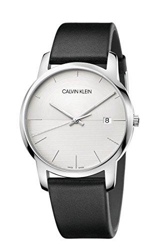 Calvin Klein Reloj Analógico para Hombre de Cuarzo con Correa en Cuero K2G2G1CD