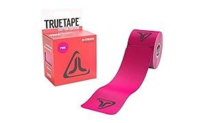 TRUETAPE Cotton Edition | vorgeschnittenes Kinesiologie Tape | 20 Precut Streifen Pro Rolle | CE-Zertifiziert | 40 Anleitungen
