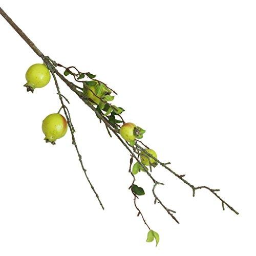 Trada Künstliche Unechte Blumen, Seide Kunststoff Künstliche Gefälschte Künstliche Rose Fruit Granatapfel Beeren Bouquet Floral Garten Home Decor für Haus Garten Party Blumenschmuck (Grün)