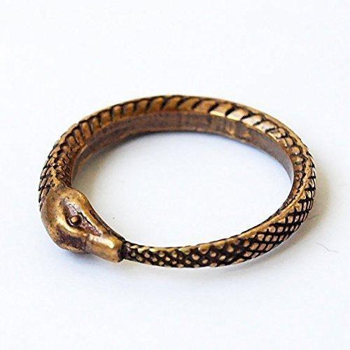 Schlange fresse den Schwanz (Uroboros) aus Messing. Größe 53 (17)