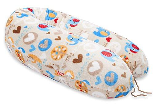 SONDERANGEBOT 29,9 EUR STATT 35,9 - SCAMP Stillkissen Schwangerschaftskissen inkl. Bezug verschiedenes Design NEU (Elefant)