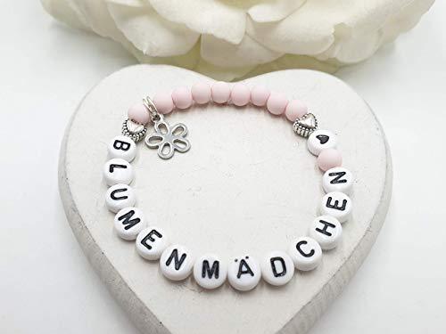 Armband Blumenmädchen, Geschenkidee Blumenmädchen, Armband mit Text, Blumenmädchen Armband, Geschenk Blumenkind