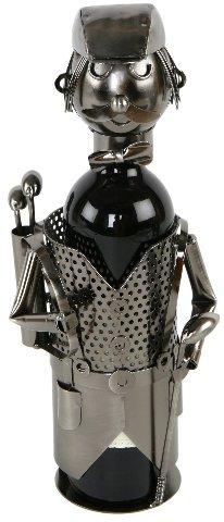 Flaschenhalter Golfspieler aus Metall