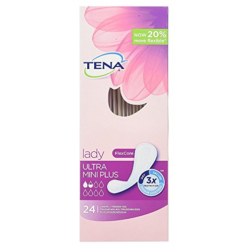 TENA Lady Ultra Mini Plus Fresh Odour Control Bladder Weakness Liners - 24 Liners (Multi Pack 6 x 24) by Tena