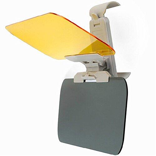 E Support 2 in 1 KFZ Auto Sonnenblende Blendschutz Transparent Anti-Glare Glas für Tag und Nacht Sonnenschutz Sichtschutz Reinigungstuch
