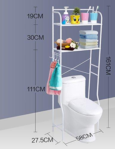 Waschmaschine Regale ZCJB Zwei Schichten DREI-Schicht-Panel Waschmaschine Trommel Waschmaschine Balkon Standfesten Farbe Lagerregal Bad WC Wc Rack (Farbe : A)