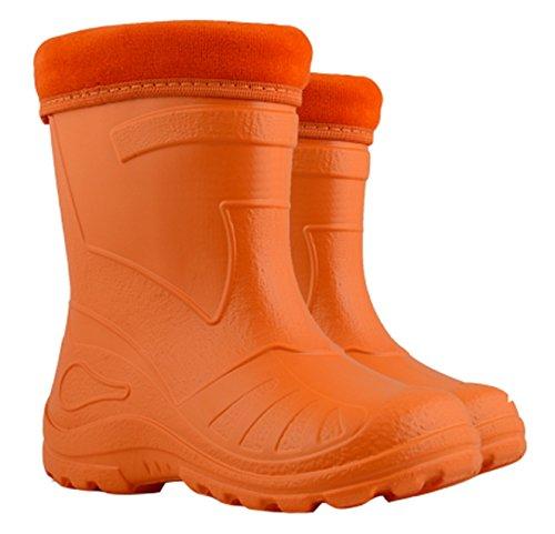 Ultra Light Eva bambini ragazze stivali pioggia neve stivali rosso molto caldo Liners, arancione (Orange), 30 EU-19,5 cm