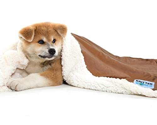 kritterworldâ  Mascota Perro Gato Cachorro Microplush Sherpa Manta para sofá, coche, Trunk, Cage, Caseta, perro, 45de casa 'X30Chocolate