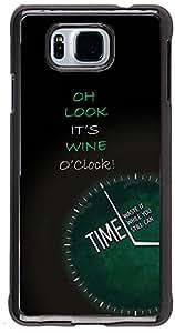 PRINTVISA Quotes Attitude Wine Time Case Cover for Samsung Galaxy Alpha