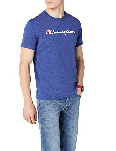 Champion Crewneck T-Shirt-Institutionals, Camiseta para Hombre, Azul (Zbvu) b4a92fa08d08