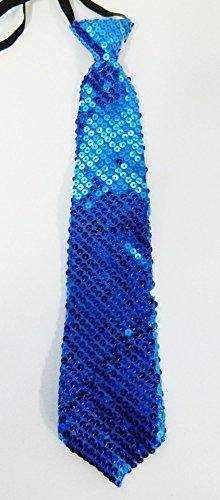 cravate-bleu-brillante-disco-enfant-34cm-fete-mariage-deguisement-spectacle