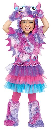 Kuschel-Monster violett Kinderkostüm - Größe: - Süßeste Monster Kostüm