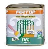 FERTOP Smalto antiruggine di finiture per esterno ed interno ROSSO POMPEIANO (CONTENUTO 0,75 L.)